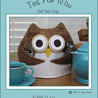 Pattern Owl Tea Cozy Tea For Who by Susie C Shore