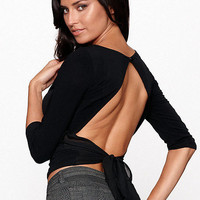 BACKLESS CHIFFON TOP