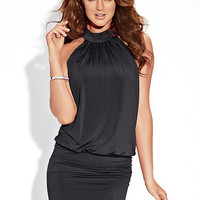 Banded Blouson Temptress Dress PLUS