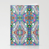 Neon Pinstripes 2 C Stationery Cards by K Shayne Jacobson