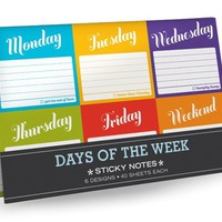 Days of the Week Sticky Note Packet  - Whimsical & Unique Gift Ideas for the Coolest Gift Givers
