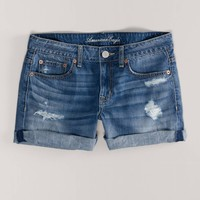 AE Destroyed Boyfit Midi Short | Aerie for American Eagle