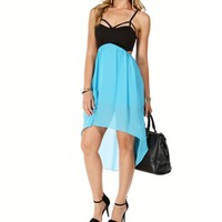 Jade Cutout Hi Lo Dress