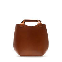 MINI LEATHER TOTE BAG - Handbags - Woman | ZARA United States