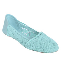 Crochet Ballet Flat | Shop Shoes at Wet Seal