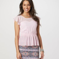 AE Pleated Peplum Top | American Eagle Outfitters