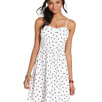 Keds Juniors Dress, Sleeveless Polka-Dot-Print A-Line - Juniors Dresses - Macy's
