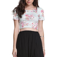 Kirra Floral Mint Crop Tee at PacSun.com