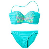 Xhilaration® Junior's 2-Piece Swimsuit -Aqua