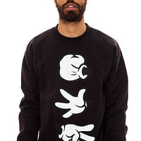 BOOGER KIDS Rock Paper Cut Crewneck Black