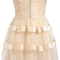 Lipsy Gold Party Prom Dress - On Sale!