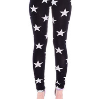 Star Spangled Cotton Leggings