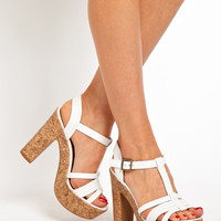 New Look Unit Strappy Cork Sandals