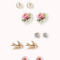 Rosette & Bird Stud Set