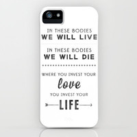 MUMFORD AND SONS iPhone & iPod Case by natalie sales
