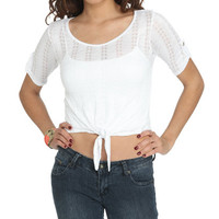 Knit Tie Front Top | Shop Sale at Wet Seal