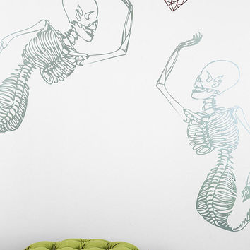 Blik Mermaid Skeleton Wall Decal