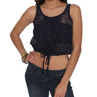 Ruffle Lace Tank | Shop Sale at Wet Seal