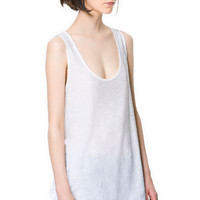 TANK TOP T - SHIRT - T - shirts - Woman | ZARA Canada