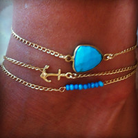 Dainty Turquoise Anklet