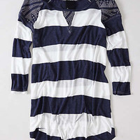 Anthropologie - Patched Rugby Pullover
