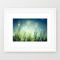 Grass  Framed Art Print by Christian Solf