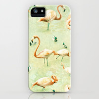 Flamingos iPhone & iPod Case by Lisa Argyropoulos