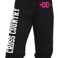 Juniors Cross Country Capri Sweats S-L:Amazon:Clothing