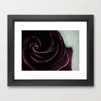 purple swirl Framed Art Print by ingz