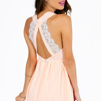 Deep V Lace Back Dress $38
