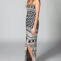 ANGIE Smock Scarf Maxi Dress