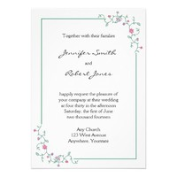 Spring Flower Illustration Wedding Invitation from Zazzle.com