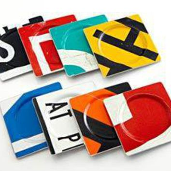 Coasters: Boris Bally: Recycled Metal Coasters - Artful Home