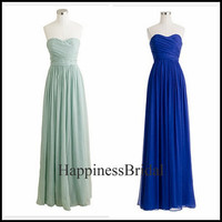 Custom A-line Sweetheart Sleeveless Floor-length Chiffon Bridesmaid Dress Prom Dress Formal Evening Dress Party Dress 2013 New Arrival