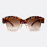 Bold Cheetah Print Sunglasses with Amber Lenses