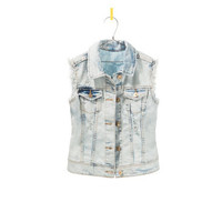 DENIM WAISTCOAT - Girl - New this week | ZARA United States