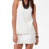 Sequined High-Low Racerback Tank