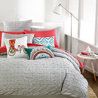 Bar III Bedding, Box Pleat Vapor Grey Collection - Apartment Bedding - Bed & Bath - Macy's