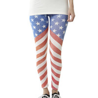 Stars & Stripes Legging | Shop Americana at Wet Seal