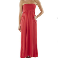 Smocked Tube Maxi Dress | Shop Americana at Wet Seal