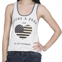 Young Free Heart Tank | Shop Americana at Wet Seal