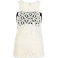 Cream lace bandeau vest - sleeveless tops - tops - women