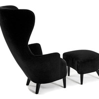 wingback chair & ottoman