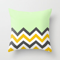Color Blocked Chevron 13 Throw Pillow by Josrick