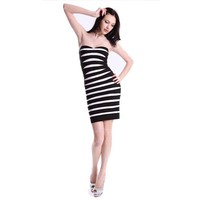 Bqueen Zebra Stripe Dress H153E - Bqueen women shoes,Bqueen designer shoes on sale
