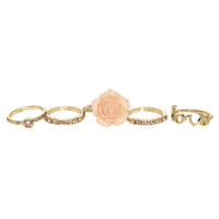 Flower Love Ring Set | Shop Jewelry at Wet Seal