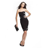 Bqueen Black White Strapless Dress H163 - Bqueen women shoes,Bqueen designer shoes on sale