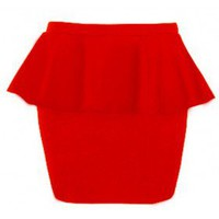 The Red Evening Skirt