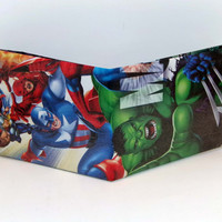 Comic Book Wallet// Hulk, Captain America, Daredevil, Thor, and Silver Surfer