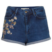 MOTO Floral Denim Hotpants - Shorts & Pants - Sale  - Sale & Offers